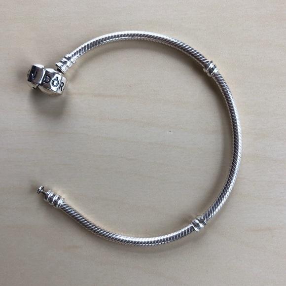 6f718b6d5 Pandora Jewelry   Silver Barrel Clasp Charm Bracelet W Box   Poshmark